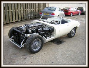 E Type Jaguar first test