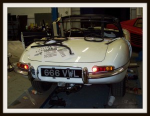 E Type Jaguar rear 2
