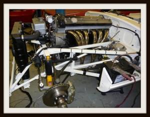 E Type Jaguar rebuilt engine fitted