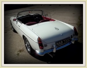 MGB Roadster roof off