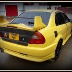 Mitsubishi Evo Accident damage